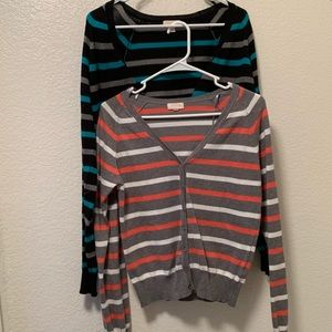 *BUNDLE* 2 Stripe Ambiance Cardigans